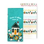 Celebrate Spring Together Spring Home Is Where Mom Is Kitchen Towel 2-pk.