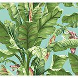 York Wallcoverings Tropics Teal Banana Leaf Removable Wallpaper
