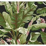 York Wallcoverings Tropics Dark Banana Leaf Removable Wallpaper