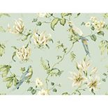 Blue Book Tropical Floral Removable Wallpaper