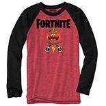 Boys 8-20 Fortnite Tomatohead Raglan Long Sleeve Tee