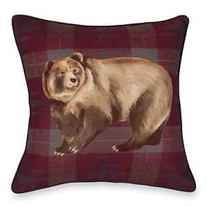 G.H. Bass Bear Throw Pillow