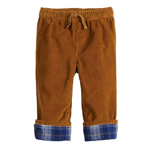 Toddler Boy Jumping Beans® Flannel Cuff Corduroy Pants