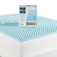 Deals on The Big One Cool Flow Gel Memory Foam Mattress Topper Full Twin