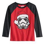 Boys 4-12 Jumping Beans® Stormtrooper Santa Long-Sleeve Tee