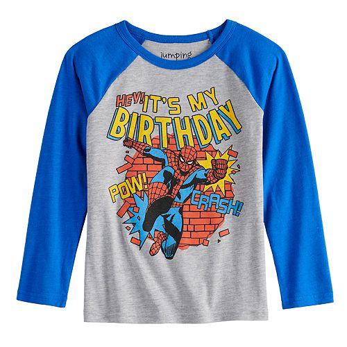 Boys 4-12 Jumping Beans® Spidey Birthday Long-Sleeve Tee