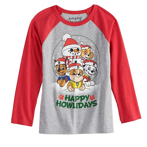 Boys 4-12 Jumping Beans® Paw Patrol Happy Howldays Long-Sleeve Tee