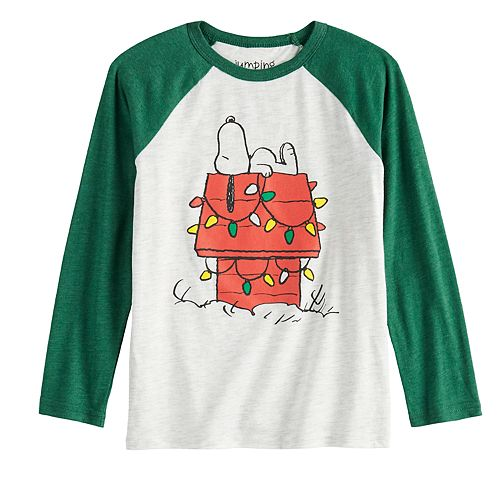 Boys 4-12 Jumping Beans® Snoopy Holiday House Long-Sleeve Tee