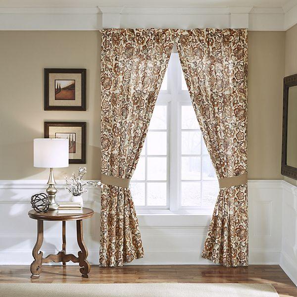 Croscill Delilah Pole Top Drapery Window Curtain