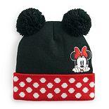 Women's Disney Minnie Mouse Double Pom Cuff Beanie