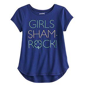 Girls 4-12 Jumping Beans® Shamrock Tulip-Hem Tee
