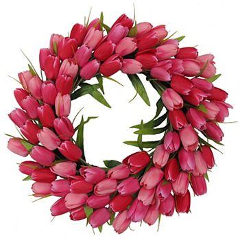 Celebrate Valentine's Day Together Red Tulip Wreath