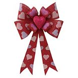 Celebrate Valentine's Day Together LED Heart Bow Wall Decor