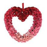 Celebrate Valentine's Day Together Heart Wood Curl Wreath