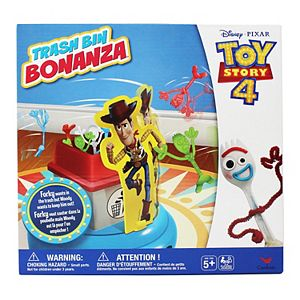 Disney Pixar Toy Story 4 Trash Bin Bonanza Game with Woody and Forky by Spin Master
