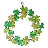 Celebrate St. Patrick's Day Together Metal Shamrock Wreath