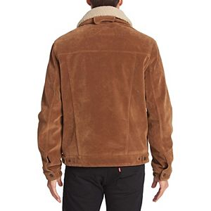Men's Levi's® Faux Suede Classic Trucker Jacket with Sherpa Lining and Collar