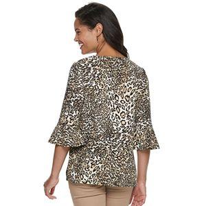 Women's Croft & Barrow® Flare-Sleeve Crepe Top