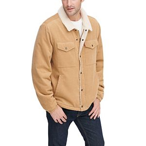 Men's Levi's® Classic Corduroy Trucker Jacket with Sherpa Lining