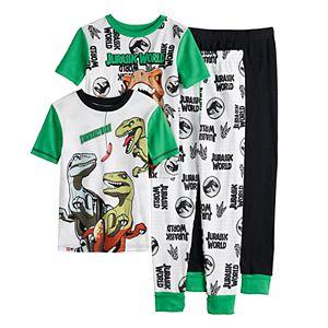 Boys 4-10 LEGO Jurassic World Glow In The Dark Tops & Bottoms Pajama Set