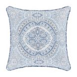 Royal Court Claremont Blue Square Decorative Throw Pillow
