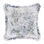 Royal Court Estelle Blue Square Decorative Throw Pillow