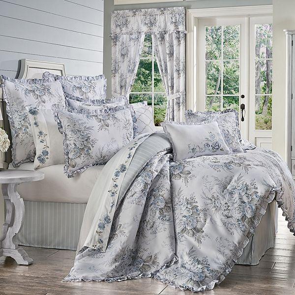 Royal Court Estelle Blue 4 Piece Comforter Set