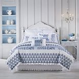 Royal Court Tessa White 4-Piece Comforter Set