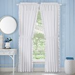 Royal Court Tessa White Window Curtain Set