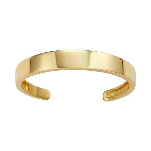 10k Gold Polished Toe Ring
