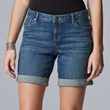 Women's Simply Vera Vera Wang Rolled-Hem Jean Shorts