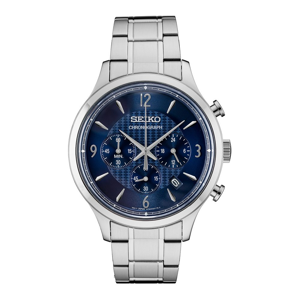 Seiko Men's Stainless Steel Chronograph Watch - SSB339