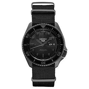Seiko Men's Black Nylon NATO Strap Automatic Watch - SRPD79
