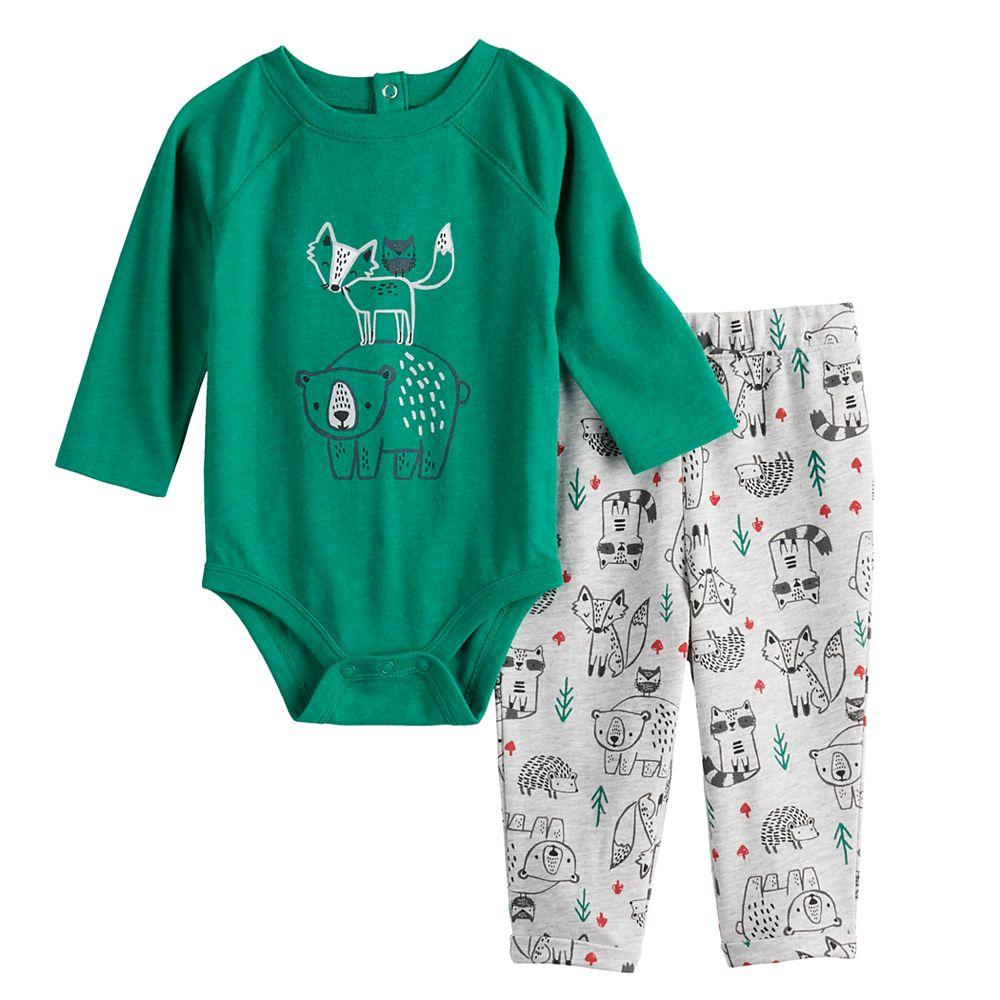 Baby Girl Jumping Beans® Fleece Pullover & Leggings Set