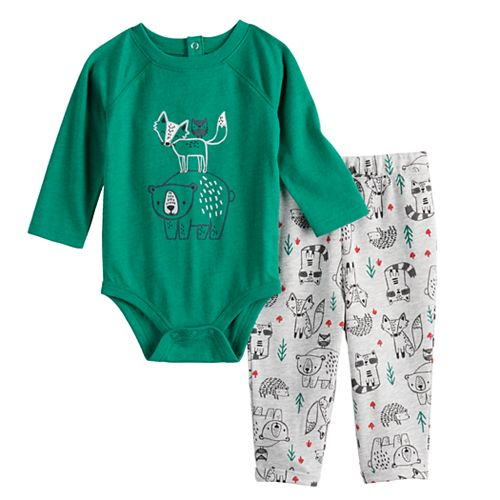Baby Girl Jumping Beans® Fleece Pullover & Leggings Set