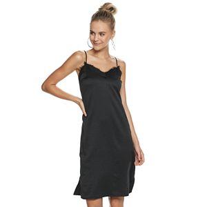 Juniors' Candie's® Lace Trim Midi Slip Dress