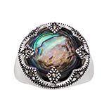 La Belle Vie Paua Shell Round Ring