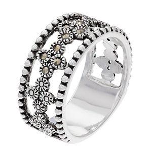 Women's La Belle Vie Flower Center Row Ring