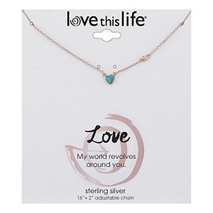 LovethisLife® Sterling Silver Opal Heart Necklace