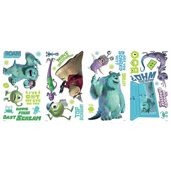 Disney Pixar Monsters Inc Wall Decals By Roommates