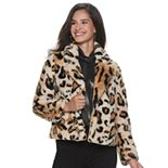 Women's Jennifer Lopez Faux Fur Jacket