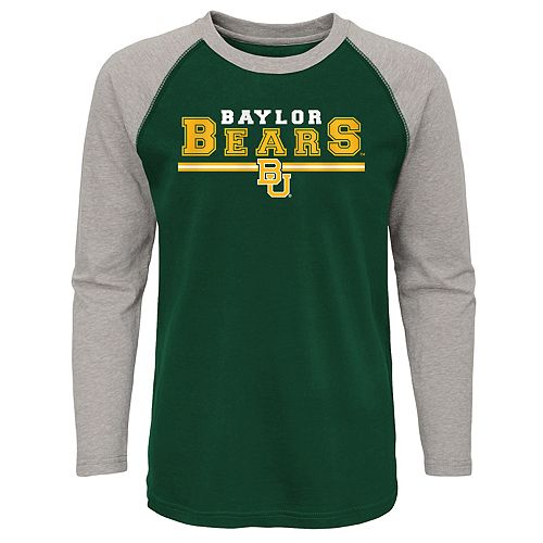 Boys 4-20 Baylor Bears Reverse Varsity Block Raglan Tee
