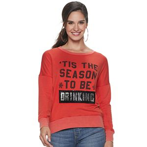 "Women's Rock & Republic® ""Tis The Season"" Reversible Sequin Pullover"