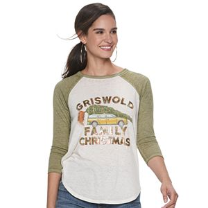 "Women's Rock & Republic® ""Griswold Family Christmas"" Raglan Graphic Tee"