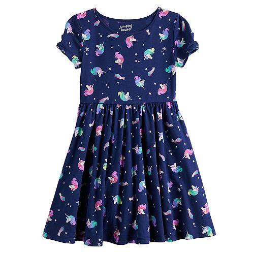 Girls 4-12 Jumping Beans® Bow Sleeve Skater Dress