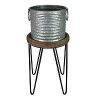 Deals on 2 SONOMA Goods for Life Small Galvanized Planter w/Stand