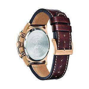Citizen Eco-Drive Men's Avion Leather Chronograph Watch - CA4213-18L