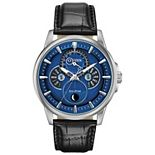 Citizen Eco-Drive Men's Calendrier Moonphase Leather Watch - BU0050-02L