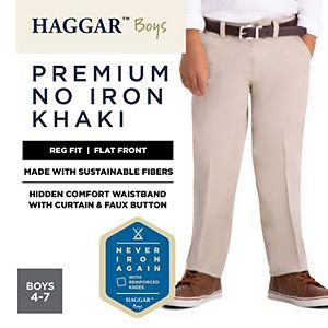 Boys 4-7 Haggar Premium No-Iron Khaki Pants