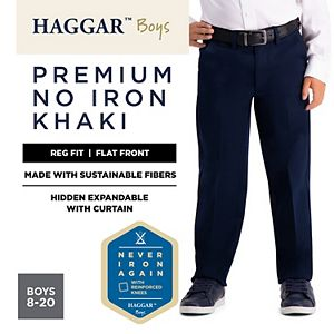 Boys 8-20 Haggar Premium No-Iron Khaki Pants